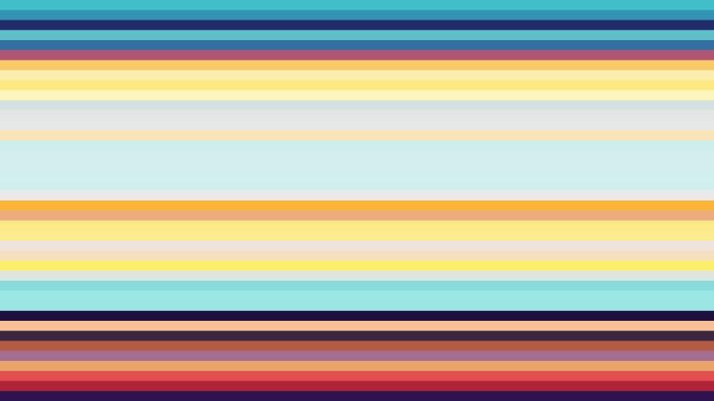 Colorful Horizontal Stripes Background