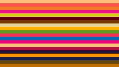 Colorful Horizontal Striped Background Vector