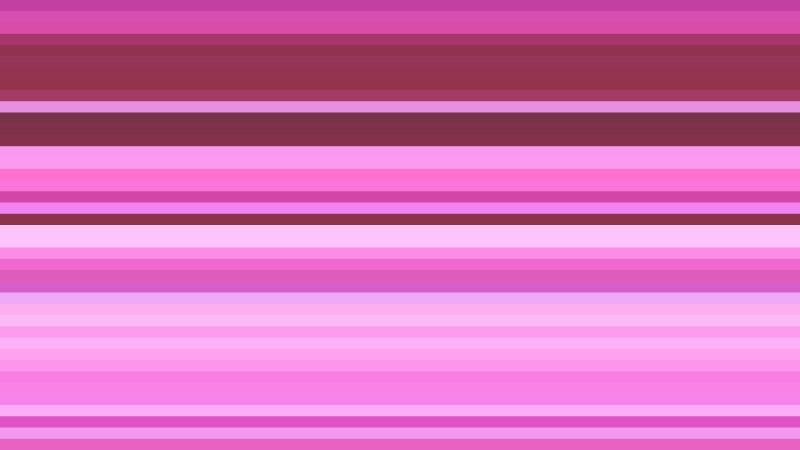 Fuchsia Horizontal Stripes Background Vector Art