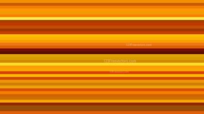 Orange Horizontal Stripes Background Vector Image