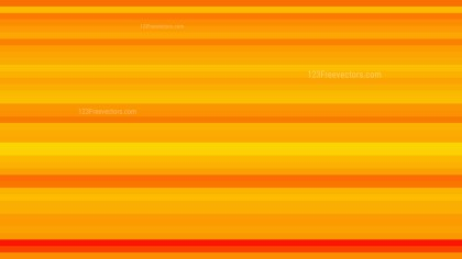 Orange Horizontal Stripes Background Vector Art