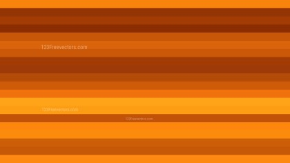 Orange Horizontal Striped Background Vector Image