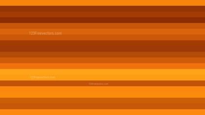 Orange Horizontal Striped Background Vector Image