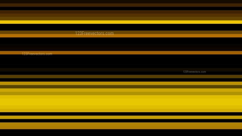 Orange and Black Horizontal Stripes Background Vector Graphic