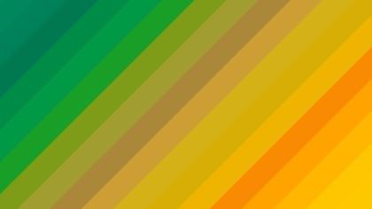Orange and Green Diagonal Stripes Background Vector Illustration