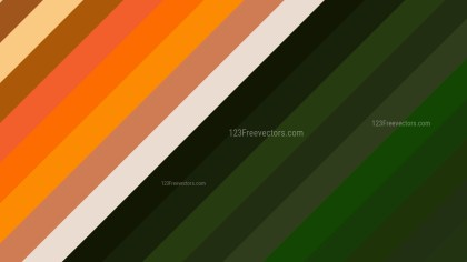 Orange and Green Diagonal Stripes Background Graphic