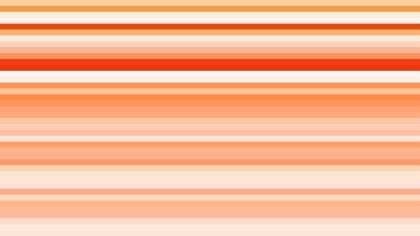 Orange and White Horizontal Stripes Background Vector Graphic