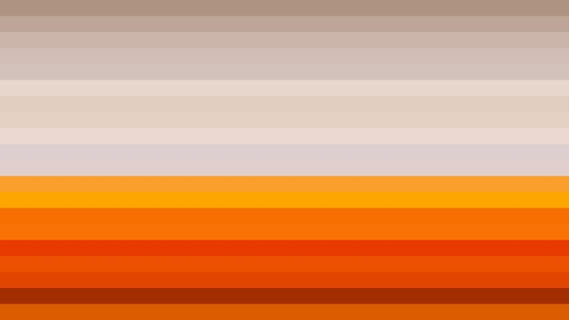 Orange and White Horizontal Striped Background Vector Image