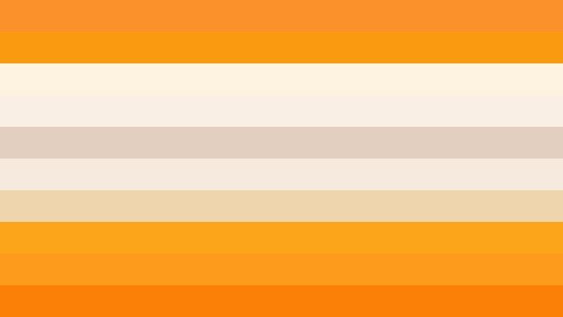 Orange and White Stripes Background Vector Illustration