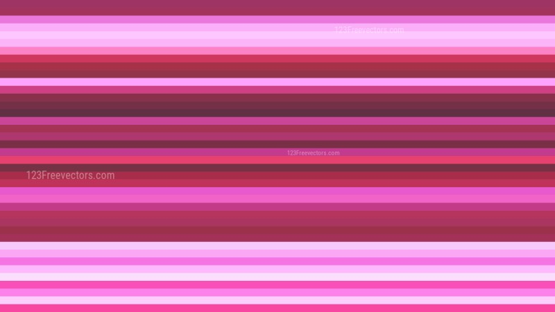 Pink Horizontal Stripes Background Design