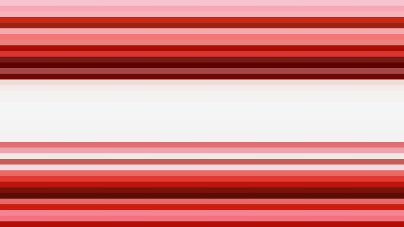 Red and White Horizontal Stripes Background