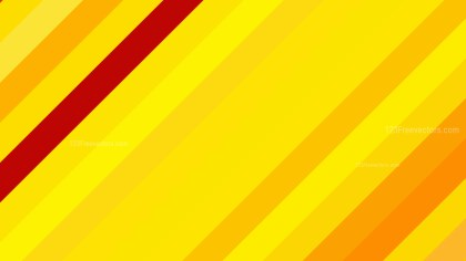 Red and Yellow Diagonal Stripes Background Vector Graphic
