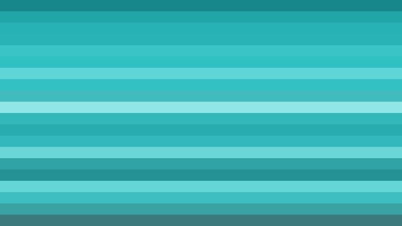 Turquoise Horizontal Striped Background Illustration