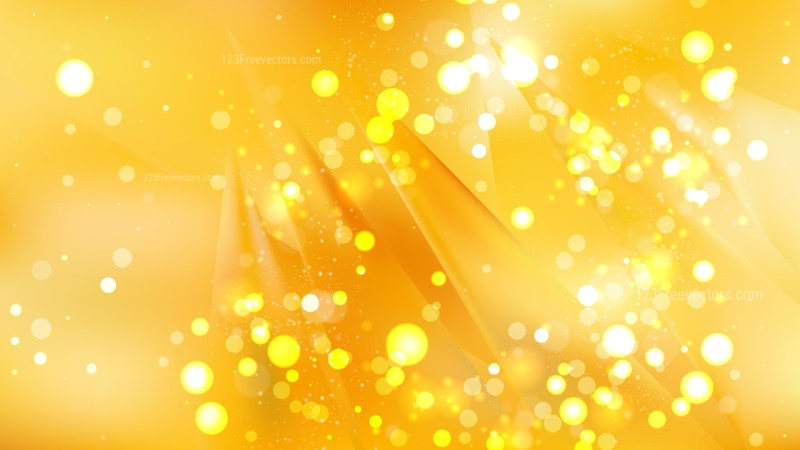 Abstract Amber Color Blur Lights Background