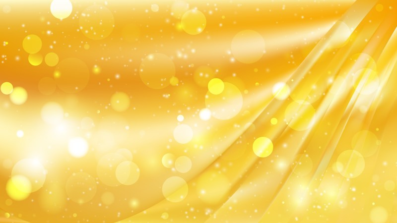 Abstract Amber Color Blurry Lights Background