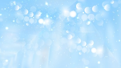 Abstract Baby Blue Blurred Bokeh Background