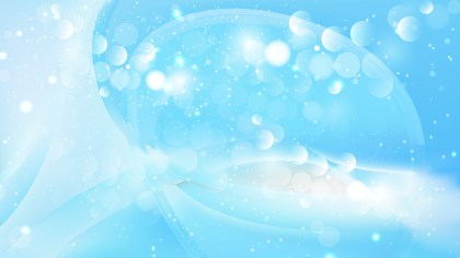 Abstract Baby Blue Blurred Lights Background