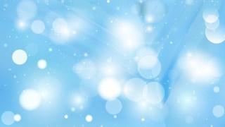 Abstract Baby Blue Blurry Lights Background