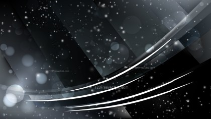 Abstract Black Blurred Lights Background Vector