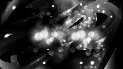 Abstract Black Bokeh Defocused Lights Background Vector