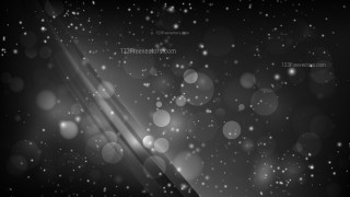 Abstract Black Bokeh Defocused Lights Background Image