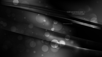 Abstract Black Bokeh Lights Background Image
