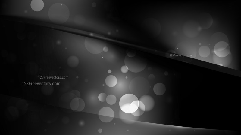 Abstract Black Defocused Background Design