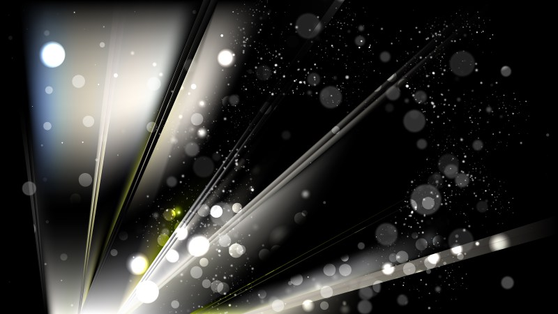 Abstract Black and Beige Bokeh Background