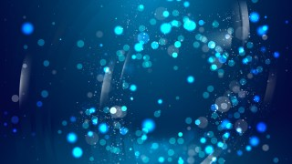 Abstract Black and Blue Defocused Lights Background