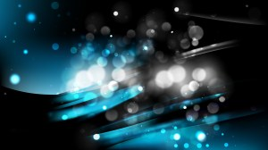 Abstract Black and Blue Blurred Bokeh Background