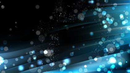 Abstract Black and Blue Blur Lights Background