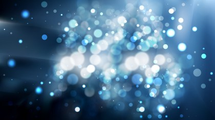 Abstract Black and Blue Blurred Lights Background Image