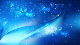 Abstract Black and Blue Blurred Bokeh Background Image