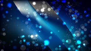 Abstract Black and Blue Bokeh Defocused Lights Background Design