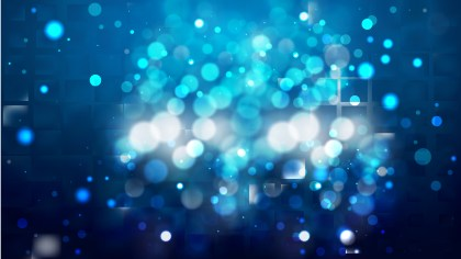 Abstract Black and Blue Bokeh Lights Background