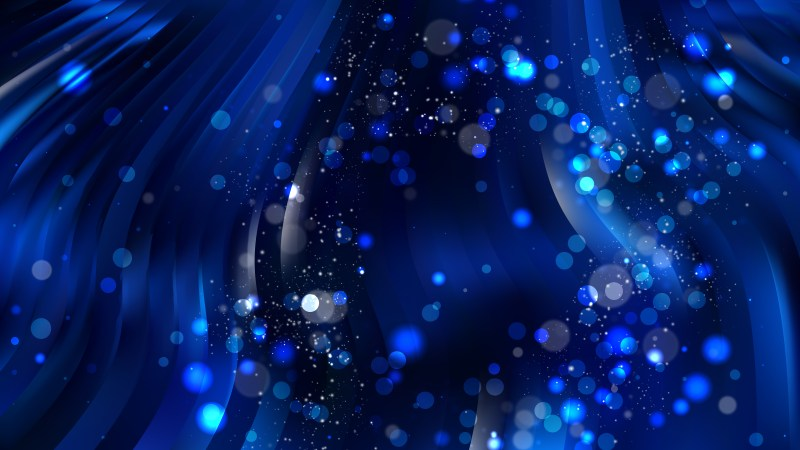 Abstract Black and Blue Bokeh Background Vector