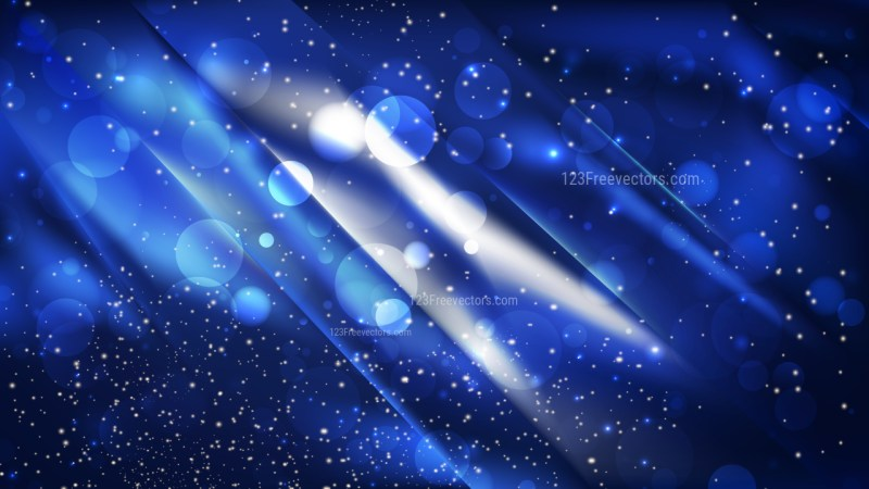 Abstract Black and Blue Defocused Background Design
