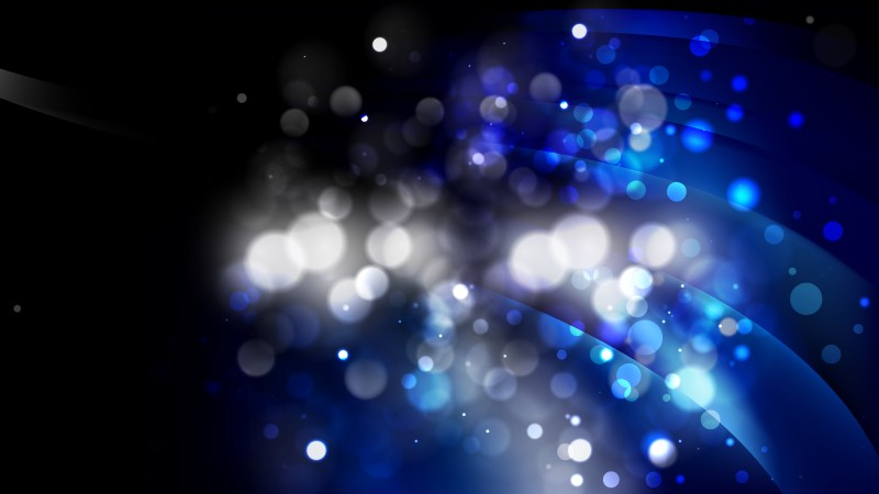 Abstract Black and Blue Blurred Bokeh Background Design