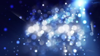 Abstract Black and Blue Bokeh Background
