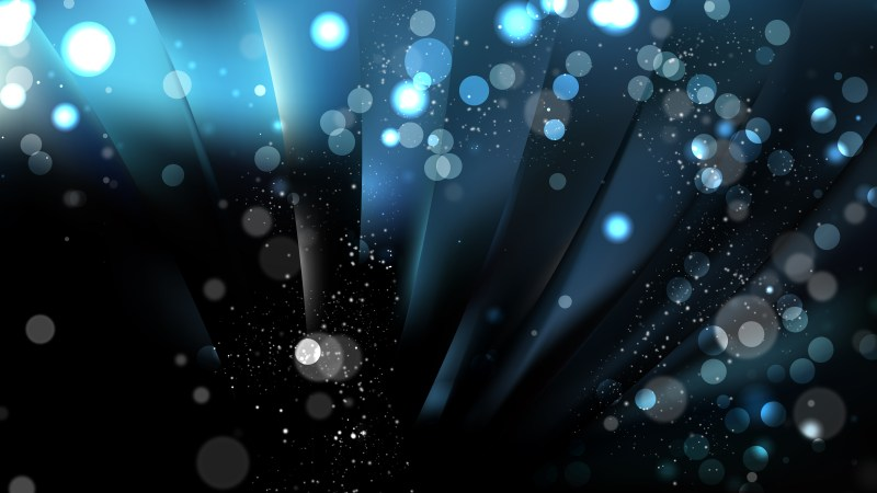 Abstract Black and Blue Blurred Lights Background Vector