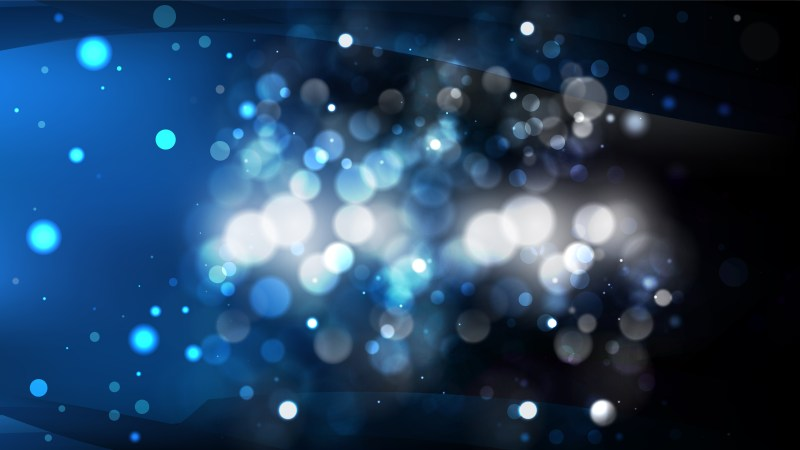 Abstract Black and Blue Defocused Lights Background Vector