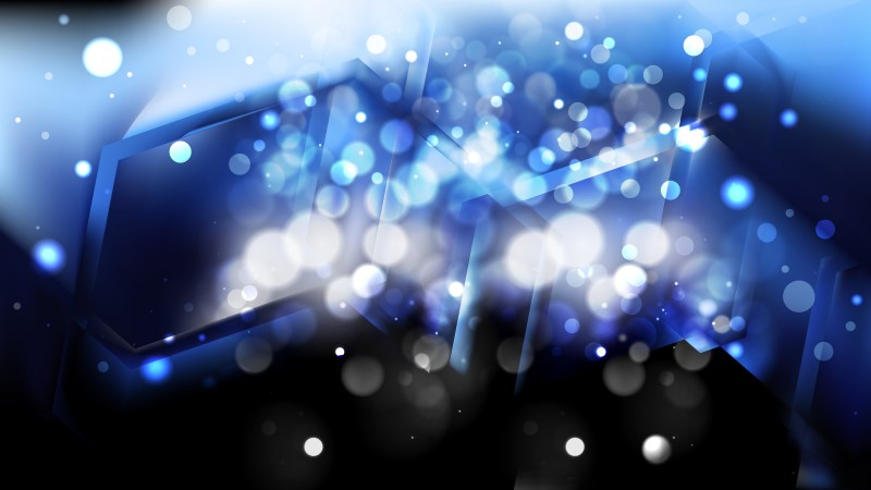 Abstract Black and Blue Blurred Bokeh Background Vector