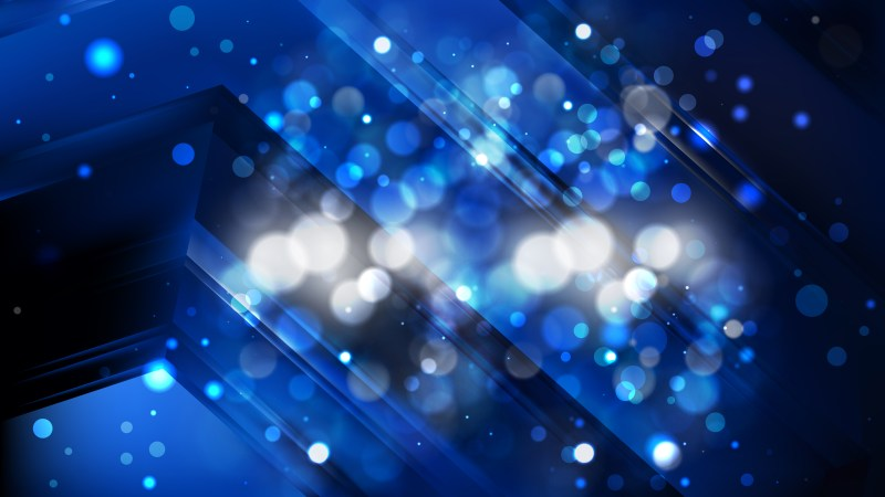 Abstract Black and Blue Bokeh Background Image