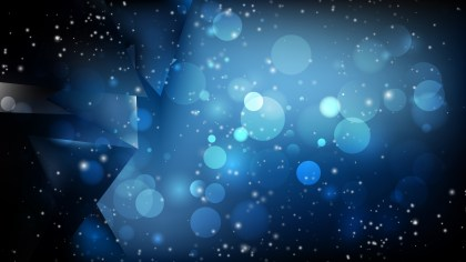 Abstract Black and Blue Bokeh Lights Background Image