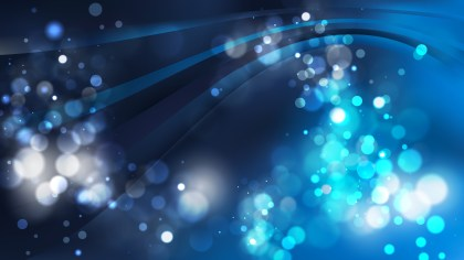 Abstract Black and Blue Blurry Lights Background Design
