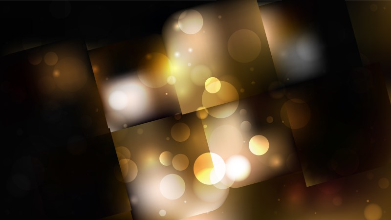 Abstract Black and Brown Defocused Lights Background Vector