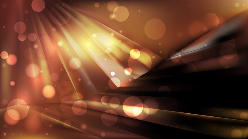 Abstract Black and Brown Bokeh Defocused Lights Background Vector