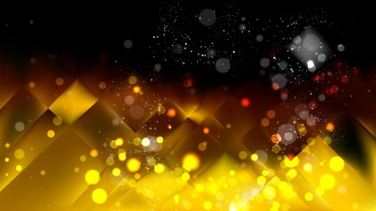 Abstract Black and Gold Bokeh Background Image