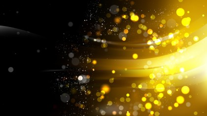 Abstract Black and Gold Blurred Lights Background Image