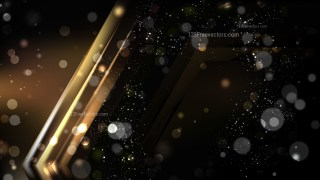 Abstract Black and Gold Blur Lights Background Image